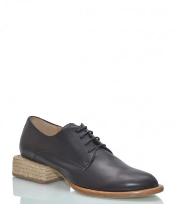 Черные туфли Paloma Barceló Ravina на низком квадратном каблуке