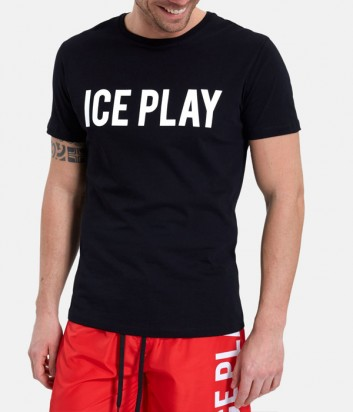 Черная футболка ICE PLAY F013P400 с логотипом