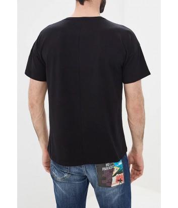 Черная футболка ICE PLAY F053P410 с ярким принтом