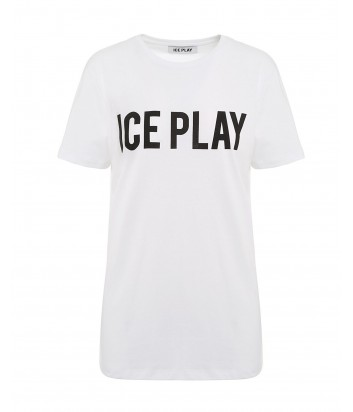 Белая футболка ICE PLAY F013P400 с логотипом
