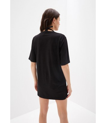 Длинная футболка Karl Lagerfeld KL18TS04 черная
