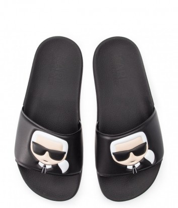 Мужские шлепанцы Karl Lagerfeld Ikonik KLL70005 черные