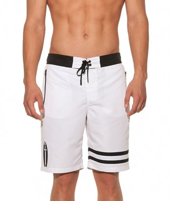 Длинные шорты Karl Lagerfeld KL19MBL01 белые