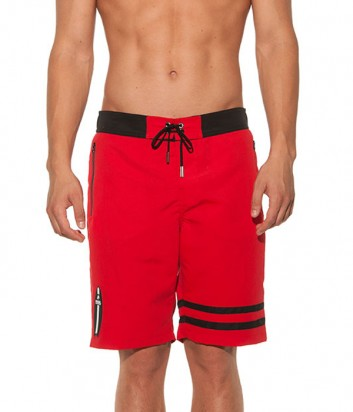 Длинные шорты Karl Lagerfeld KL19MBL01 красные