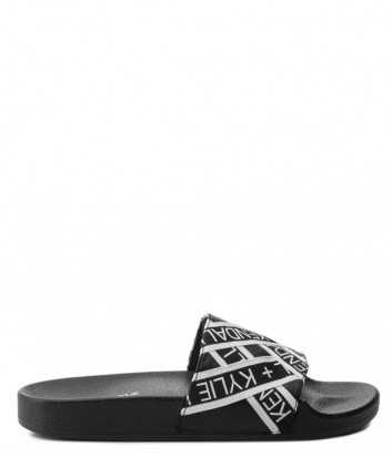 Шлепанцы Kendall+Kylie Shaye черные с принтом