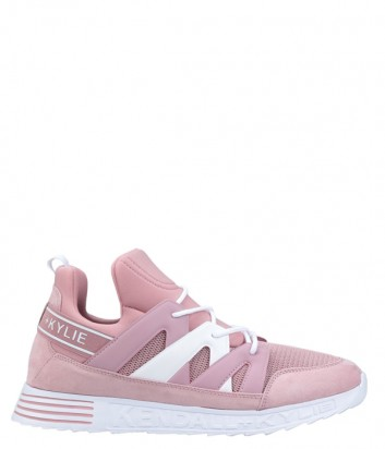 Розовые кроссовки Kendall+Kylie Nate с брендированной вставкой
