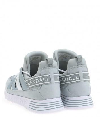 Голубые кроссовки Kendall+Kylie Nate с брендированной вставкой