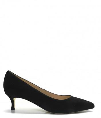 Замшевые туфли UNISA Indira черные