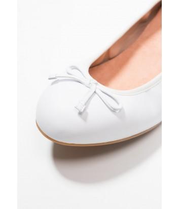 Кожаные балетки UNISA Acor белые