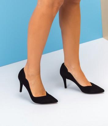 Замшевые туфли UNISA Tornos черные